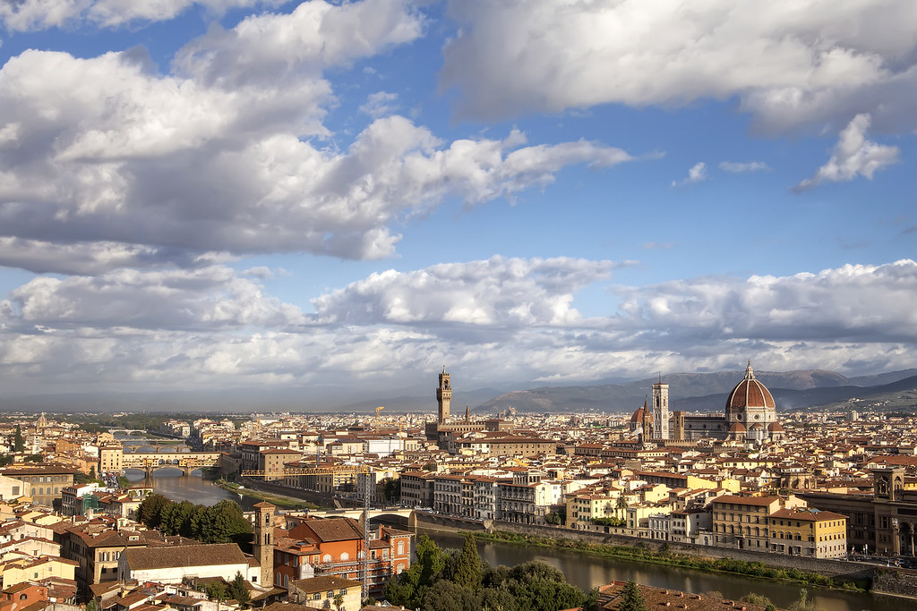 view of florence from michealangelo square