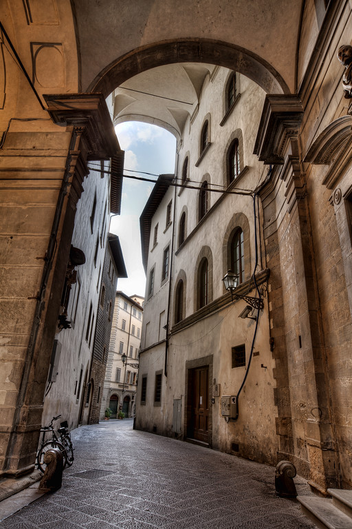 Archway in Florence Tuscany Italy