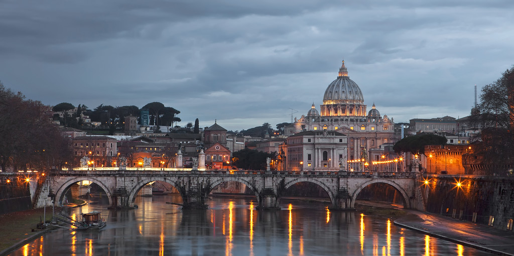 the vatican from across the river