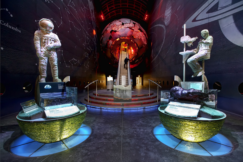 red zone entrance in the natural history museum, London