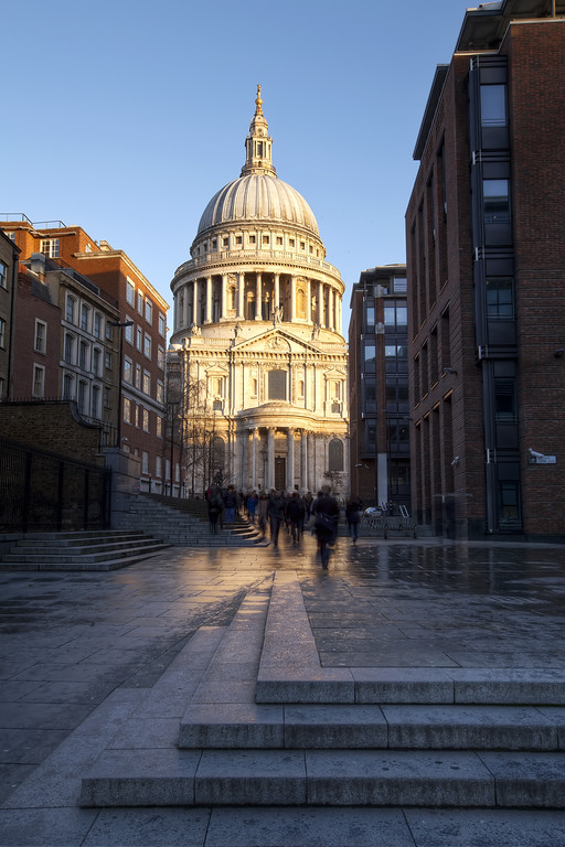 St. Paul's cathedral, London from the south