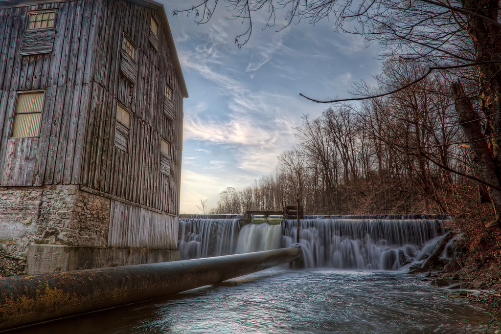 The Old Gristmill and weir at Walter's Falls, Ontario